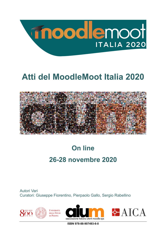 Copertina degli atti del Moodlemoot Italia 2020